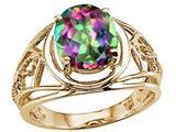 Tommaso Design™ Oval 10x8 mm Mystic Rainbow Topaz Ring style: 25939