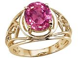 Tommaso Design™ Oval 10x8 mm Simulated Pink Topaz Ring style: 25941