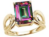 Tommaso Design™ Emerald Cut 10x8 mm Mystic Rainbow Topaz Ring style: 25945