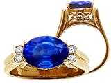 Tommaso Design™ Oval 10x8 mm Created Sapphire Ring style: 25980