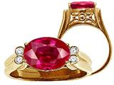 Tommaso Design™ Oval Created Ruby Ring style: 25981