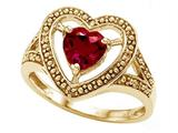 Tommaso Design™ Heart Created Ruby Ring style: 28652