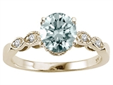 Tommaso Design™ Genuine Aquamarine Round 7mm s Solitaire Engagement Ring style: 303872