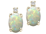 Tommaso Design™ Oval 8x6mm Genuine Opal Earrings style: 307591
