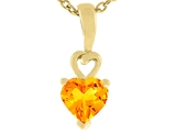 Tommaso Design™ Heart Shape Genuine Citrine Pendant Necklace style: 308398