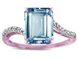 Star K ™ Big Stone Octagon Emerald Cut 10x8 Sky Blue Topaz Bypass solitaire ring style: 314796