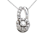 Round Diamonds Pendant Necklace style: 670001