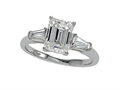 Zoe R™ White Gold Engagement Ring with Swarovski Cubic Zirconia (CZ)