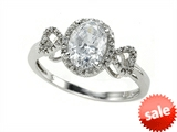 Zoe R™ White CZ Engagement Ring with Diamonds style: 670009