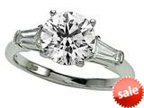 Zoe R™ White Gold Engagement Ring 7.5mm Cubic Zirconia (CZ) Center style: 670018
