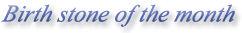 Birth Stone of the month