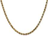 24 Inch 14k 3.5mm bright-cut Rope With Lobster Clasp Chain Necklace style: 025L24