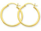 10k Polished 2mm Round Hoop Earrings style: 10T915