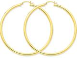 10k Polished 3mm Round Hoop Earrings style: 10T946