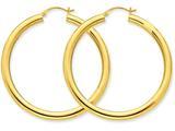 10k Polished 4mm X 50mm Tube Hoop Earrings style: 10T952