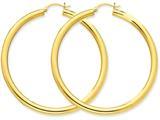 Finejewelers 10k Polished 4mm X 50mm Tube Hoop Earrings style: 10T954