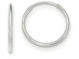 10k White Gold Endless Hoop Earrings style: 10T975