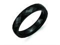 Chisel Ceramic Black 4mm Faceted Polished Wedding Band