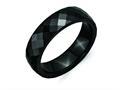 Chisel Ceramic Black 6mm Faceted Polished Weeding Band