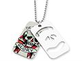 Ed Hardy Death and Glory 2-piece Dog Tag Painted Necklace