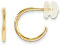 14 kt Yellow Gold Madi K Hoop Screwback Children Earrings