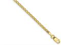 Finejewelers 14 kt Yellow Gold 2mm Lightweight Flat Chain Anklet