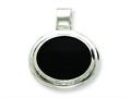 Sterling Silver Onyx Pendant Necklace - Chain Included