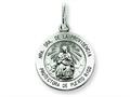 Finejewelers Sterling Silver Antiqued De La Providencia Medal Pendant Necklace - Chain Included