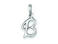 Sterling Silver Initial B Pendant - Chain Included