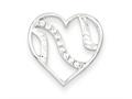 Sterling Silver Cubic Zirconia Heart Pendant Necklace - Chain Included
