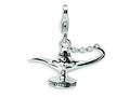 Amore LaVita™ Sterling Silver 3-D Enameled Magic Lamp w/Lobster Clasp Bracelet Charm