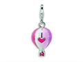 Amore LaVita™ Sterling Silver 3-D Enameled Hot Air Balloon w/Lobster Clasp Bracelet Charm