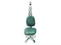 Amore LaVita™ Sterling Silver 3-D Enameled Office Chair w/Lobster Clasp Bracelet Charm