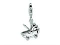 Amore LaVita™ Sterling Silver Baby Carriage w/Lobster Clasp Bracelet Charm