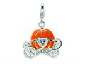 Amore LaVita™ Sterling Silver 3-D Enameled Carriage w/Lobster Clasp Bracelet Charm