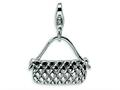 Amore LaVita™ Sterling Silver Purse w/Lobster Clasp Bracelet Charm