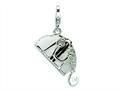 Amore LaVita™ Sterling Silver 3-D Enameled Opening Hand Bag w/Lobster Clasp Charm (Moveab) for Charm Bracelet