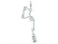 Amore LaVita™ Sterling Silver 3-D Enameled Wine Bottle on Stand w/Lobster Clasp Charm (Moveable) for Charm Bracelet