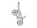 Amore LaVita™ Sterling Silver Polished Bicycle w/Lobster Clasp Bracelet Charm