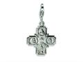 Amore LaVita™ Sterling Silver 4-way Medal w/Lobster Clasp Bracelet Charm