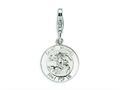Amore LaVita™ Sterling Silver Saint Michael Medal w/Lobster Clasp Bracelet Charm