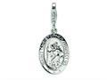 Amore LaVita™ Sterling Silver St. Christopher Medal w/Lobster Clasp Bracelet Charm
