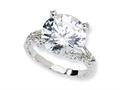 Cheryl M™ Sterling Silver Fancy CZ Ring