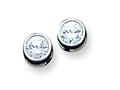 Sterling Silver Cubic Zirconia Post Earrings