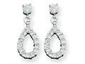 Sterling Silver Fancy Cubic Zirconia Earrings