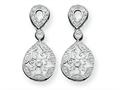 Sterling Silver Cubic Zirconia Antique Style Earrings