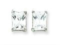 Sterling Silver Emerald Cubic Zirconia Stud Earrings