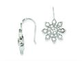 Sterling Silver Cubic Zirconia Snowflake Earrings