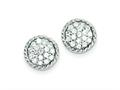 Sterling Silver Round Cubic Zirconia Post Earrings