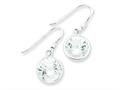 Sterling Silver Round Clear Cubic Zirconia Earrings